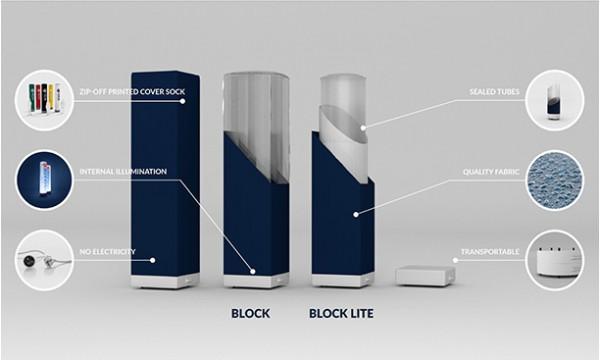 Blokas su reklama AXION