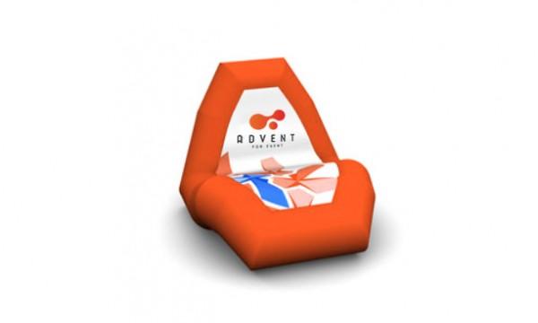 Reklaminis pripučiamas fotelis