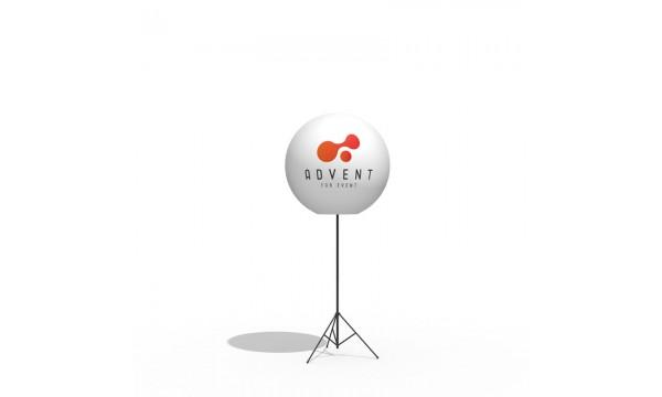 Reklaminis balionas ant stovo