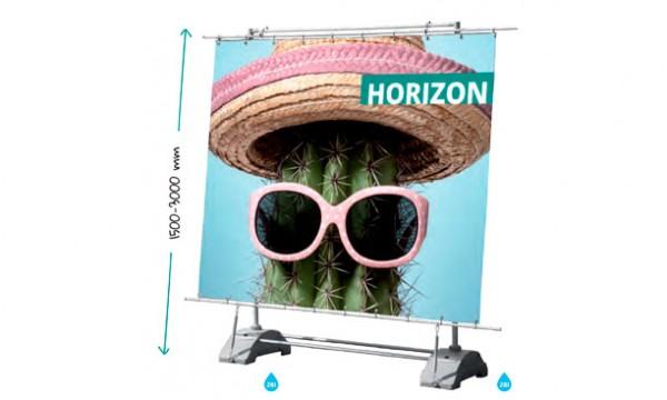 Horizontalus reklaminis stendas