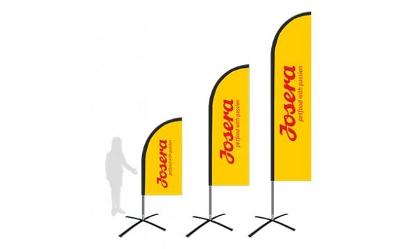 Reklaminės vėliavos lygiu kraštu