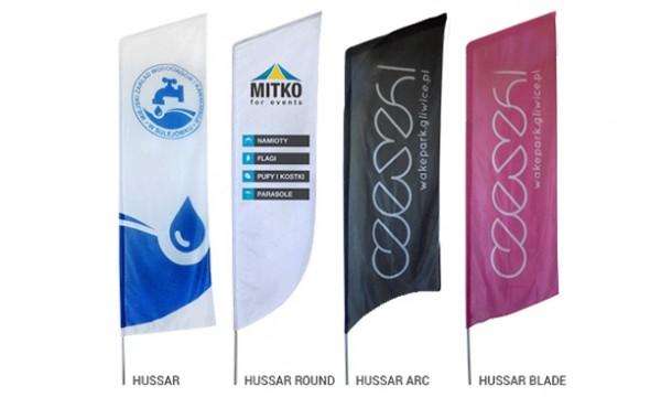 Reklaminės vėliavos HUSSAR